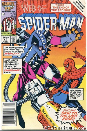 web of spider man 17 cpv canadian price variant image