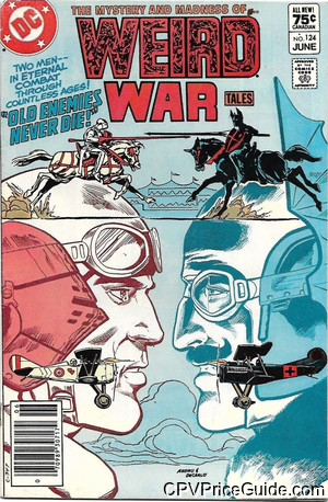Weird War Tales #124 75¢ Canadian Price Variant Comic Book Picture