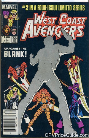 West Coast Avengers Limited Series #2 $1.00 Canadian Price Variant Comic Book Picture