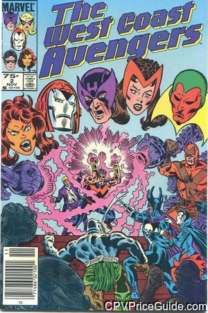 West Coast Avengers #2 75¢ Canadian Price Variant Comic Book Picture