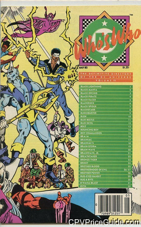 Who's Who: The Definitive Directory of the DC Universe #3 $1.35 Canadian Price Variant Comic Book Picture