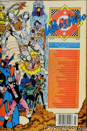 Who's Who: The Definitive Directory of the DC Universe #5 $1.35 Canadian Price Variant Comic Book Picture