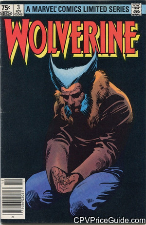 Wolverine Limited Series #3 75¢ Canadian Price Variant Comic Book Picture
