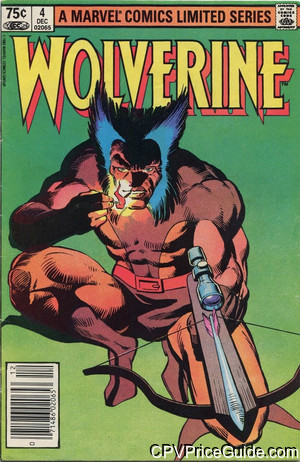 Wolverine Limited Series #4 75¢ Canadian Price Variant Comic Book Picture