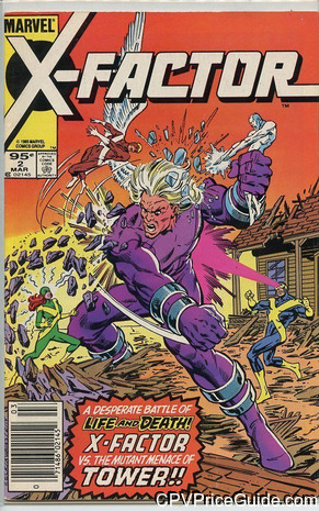 X-Factor #2 95¢ Canadian Price Variant Comic Book Picture