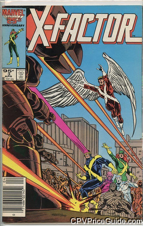 X-Factor #3 95¢ Canadian Price Variant Comic Book Picture