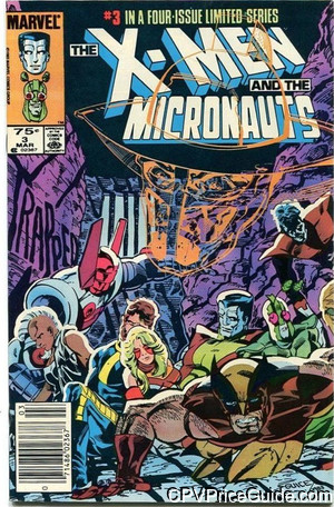 x men and the micronauts 3 cpv canadian price variant image